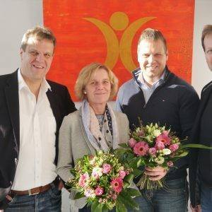 Wir gratulieren Angela Frank und Björn Wendland zum 10-jährigen Firmenjubiläum