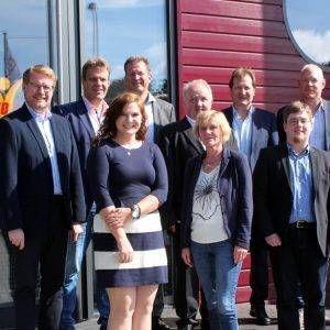 210 Neueinstellungen in 2017 beeindrucken Sozial-Politiker der CDA bei ihrem Besuch bei der Job find 4 you in Gronau