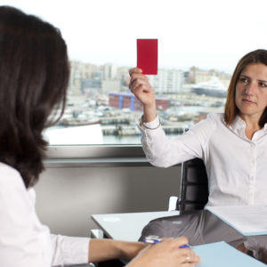 Fünf Dinge, die Sie niemals in einem Vorstellungsgespräch tun sollten