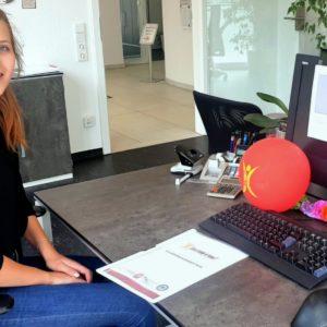 Ausbildungsstart 2019: Job find 4 you begrüßt Frederike Winterholler