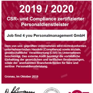 Job find 4 you – Faire Zeitarbeit – CSR
