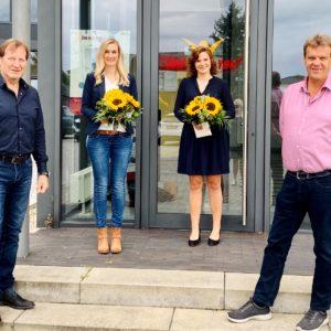 Lydia Dönnebrink feiert heute ihr 10-jähriges und Lena Flecke ihr 5-jähriges Firmenjubiläum